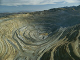 The Kennecott Copper Mine, The Largest Manmade Hole on Earth, Utah Photographic Print by James P. Blair