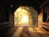 View from Inside a Covered Bridge in Virginia's Shenandoah Valley Photographic Print by Richard Nowitz