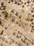 Village near the Rovuma River with Barren Soils and Square Houses, Mozambique Photographic Print by Michael Fay
