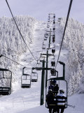 Ski Lift at a Resort Photographic Print by Tim Laman