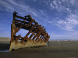 Shipwreck near Astoria, Oregon Photographic Print by Phil Schermeister