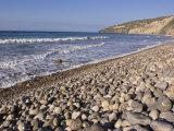 Waves Break on the Rocks at Chinese Harbor Beach on Santa Cruz Island, California Photographic Print by Rich Reid