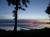 The Dock at Trader's Bay Lodge on Leech Lake, Minnesota at Sundown Photographic Print by Joel Sartore