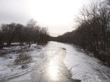 The Frigid Monocacy River in Late Winter Photographic Print by Stephen St. John