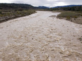 Water Flowing after Record-Setting Rainfall on the Ventura River, California Photographic Print by Rich Reid