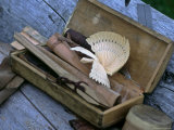 Woodcarver's Toolbox with Carved Bird Photographic Print by  Brimberg & Coulson