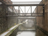 The Old C&O Canal is Powdered by a Light Snowfall Photographic Print by Stephen St. John