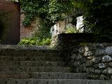 Stone Stairway Up to a Wooden Door, Asolo, Italy Fotoprint van Todd Gipstein