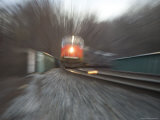 Speed and Power of a Train Emphasized by a Zoom Lens View, Silver Spring, Maryland Photographic Print by Stephen St. John