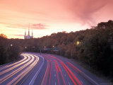 Washington Beltway Traffic, Route 495, and Morman Temple Photographic Print by Richard Nowitz