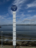 Sign Measuring Sea Level for Hurricane Evacuation, Groton, Connecticut Photographic Print by Todd Gipstein
