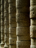 Side Angle View of Columns Along a Walkway, Asolo, Italy Photographic Print by Todd Gipstein