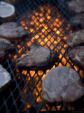Steaks on a Campfire Grill at the 4-H Photo Camp at Halsey, Ne Photographic Print by Joel Sartore