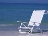 White Beach Chair on the Beach, Holmes Beach, Florida Photographic Print by Stacy Gold