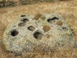 Yokuts Bedrock Mortars in Three Springs Cave near Emigdio Canyon, California Photographic Print by Rich Reid