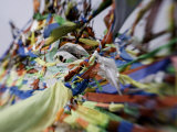 Tibetan Prayer Flags at the Temple of the Sun and Moon, Qinghai, China Photographic Print by David Evans