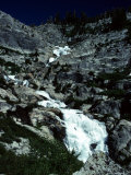 Water Cascades Down the Mountain in a Series of Waterfalls, California Photographic Print by Stacy Gold