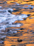 Scenic of Moving Water Reflecting Sunlit Canyon Walls, Colorado Photographic Print by Kate Thompson