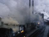 Smoke Spews from the Coke-Production Section of Poland's Lenin Steel Mill Photographic Print by James L. Stanfield