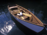 Wooden Boat and Paddles in Halibut Cove, Alaska Photographic Print by Rich Reid