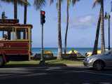 Street Scene at Waikiki Beach, Hololulu, Hawaii Photographic Print by Stacy Gold