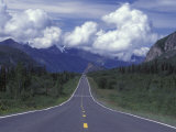 View Towards Lion's from the Road, Glenn Highway, Alaska Fotografisk tryk af Rich Reid