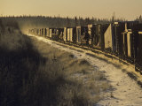 Train Transporting Oil Equipment to the Arctic, Alaska Photographic Print by Kenneth Garrett