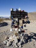 Teakettle Junction Sign Decorated in Teakettles, California Photographic Print by James Forte