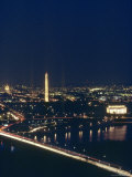 Washington D.C. at Night, Seen from Virginia, Washington, D.C. Photographic Print by Kenneth Garrett