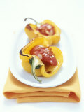 Baked Peppers with Tomato Stuffing Photographic Print by Michael Boyny