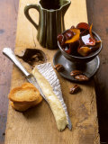 Mature Brie Cheese with Pickled Beetroot & Pecan Nuts Photographic Print by Jan-peter Westermann