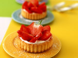 Strawberry Tartlets with Cream Quark Photographic Print by Jörn Rynio