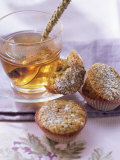 Sweet Courgette Muffins and a Cup of Tea Fotografie-Druck