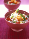 Asian Rice Noodle Soup with Vegetables Photographic Print by Michael Boyny