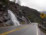 Waterfall Running under Wet Road, California Photographic Print by James Forte