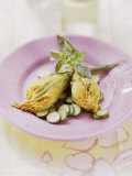 Fiori Di Zucchini Ripieni (Stuffed Courgette Flowers) Photographic Print