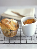 Fruit Muffin and a Pot of Apricot Jam Photographic Print by Jean Cazals