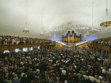 Worshipers Attend a Service in the Morman Tabernacle, Utah Photographic Print by James P. Blair