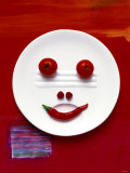 Vegetable Face on Plate Photographic Print by Dorota & Bogdan Bialy