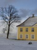 Yellow House in Snow, Copenhagen, Denmark Stampa fotografica di  Brimberg & Coulson