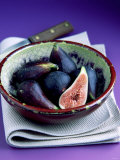 Fresh Figs in a China Bowl on a Cloth, Knife Photographic Print by Peter Howard Smith