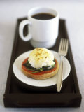 Egg Florentine (Poached Egg Florentine Style), Cup of Coffee Photographic Print by Jean Cazals