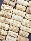 Lots of Different Wine Corks Lying Side by Side Photographic Print