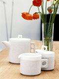 Designer Tableware: Coffee Pot, Sugar Bowl & Milk Jug Photographic Print