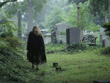 Woman in a Graveyard, Georgetown, Washington, D.C. Photographic Print by Peter Krogh