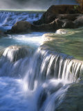 Water Flowes over Travertine Formations Below Havasu Falls Photographic Print by Bill Hatcher
