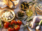 Ingredients for Mediterranean Dishes Photographic Print by Martina Urban