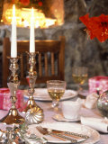 Table Laid for Christmas with Candles Photographic Print by Alena Hrbkova