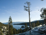 Waterfall at Emerald Bay Lake Tahoe California Photographic Print by James Forte