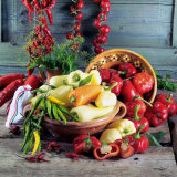 Still Life with Various Hungarian Peppers Photographic Print